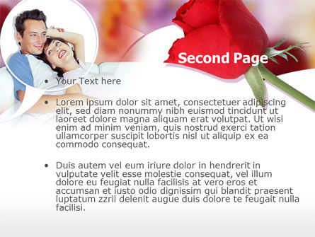 Happy Couple PowerPoint Template, Slide 2, 00203, Holiday/Special Occasion — PoweredTemplate.com