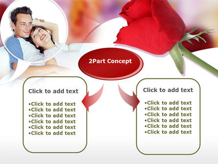 Happy Couple PowerPoint Template, Slide 4, 00203, Holiday/Special Occasion — PoweredTemplate.com