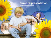 People: Happy Child PowerPoint Template #00204
