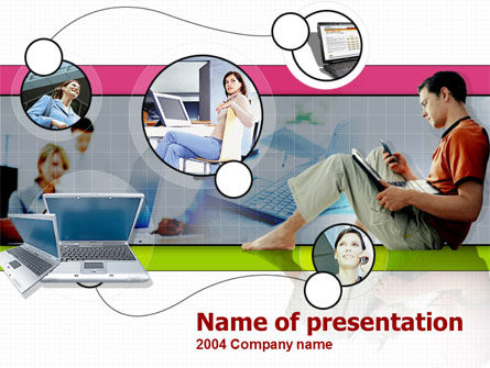 Business Online PowerPoint Template, 00206, Technology and Science — PoweredTemplate.com