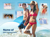 Art & Entertainment: Couples Resort PowerPoint Template #00208