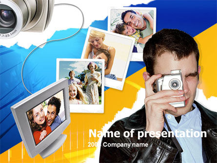 Photo Memories PowerPoint Template, 00210, Technology and Science — PoweredTemplate.com