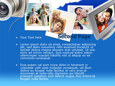 Photo Memories PowerPoint Template, Slide 2, 00210, Technology and Science — PoweredTemplate.com