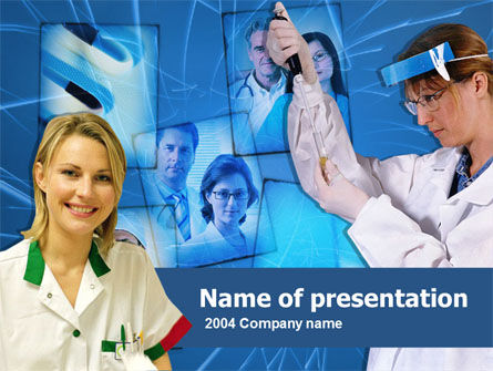 Technology and Science: Medical Personnel PowerPoint Template #00212