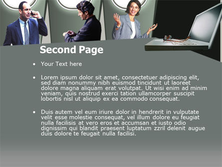 Business Consulting Free PowerPoint Template, Slide 2, 00215, Business — PoweredTemplate.com
