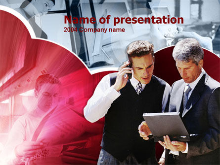 Business Consultant PowerPoint Template, 00216, Business — PoweredTemplate.com