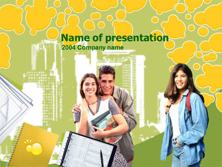 Education & Training: College Students Free PowerPoint Template #00217