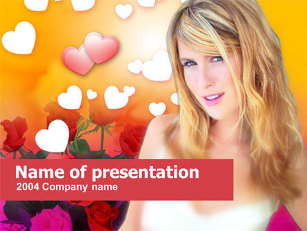 Woman in Love Free PowerPoint Template, 00221, Holiday/Special Occasion — PoweredTemplate.com