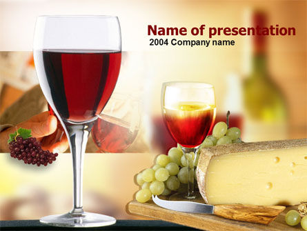 Red Wine Tasting PowerPoint Template, 00222, Food & Beverage — PoweredTemplate.com