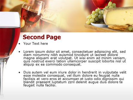 Red Wine Tasting PowerPoint Template, Slide 2, 00222, Food & Beverage — PoweredTemplate.com