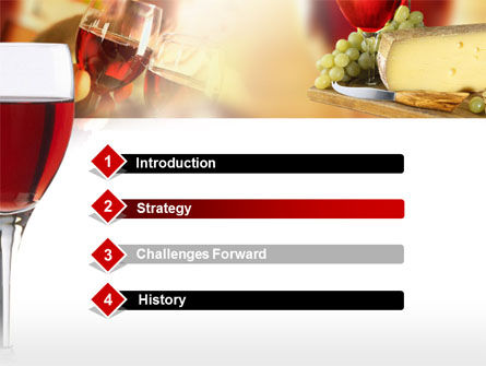Red Wine Tasting PowerPoint Template, Slide 3, 00222, Food & Beverage — PoweredTemplate.com