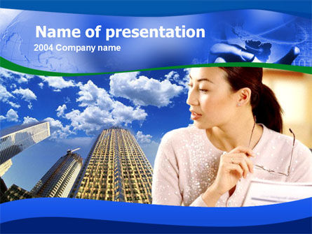 Asian Women in Business PowerPoint Template, 00223, Business — PoweredTemplate.com