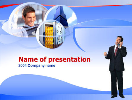 Business Calling PowerPoint Template, 00224, Business Concepts — PoweredTemplate.com