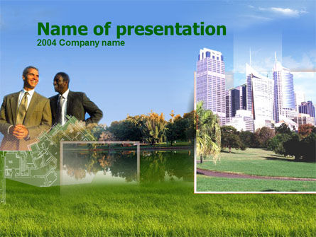 City Business PowerPoint Template, 00229, Business Concepts — PoweredTemplate.com