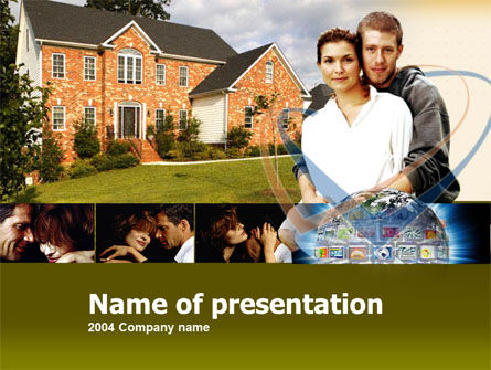 Real Estate: Plantilla de PowerPoint - casa de familia #00232