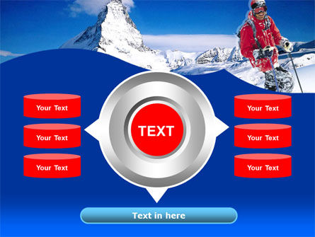 Mountain Skiing PowerPoint Template Slide 12
