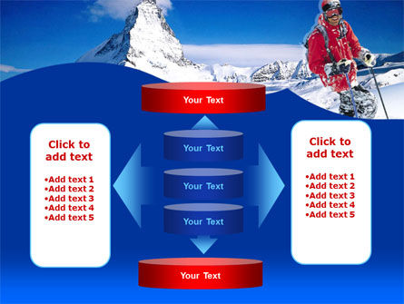 Mountain Skiing PowerPoint Template Slide 13