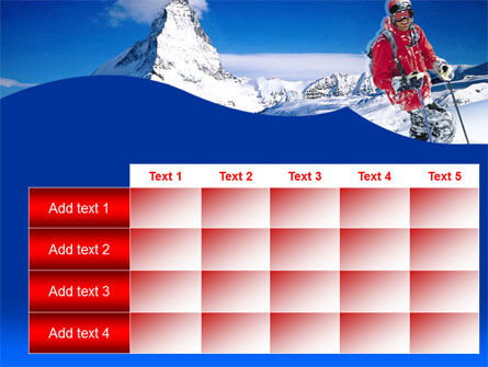 Mountain Skiing PowerPoint Template Slide 15