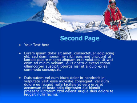 Mountain Skiing PowerPoint Template, Slide 2, 00234, Careers/Industry — PoweredTemplate.com