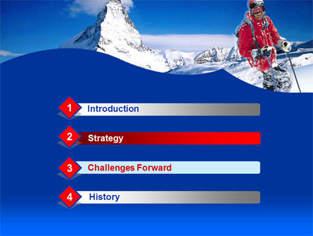 Mountain Skiing PowerPoint Template, Slide 3, 00234, Careers/Industry — PoweredTemplate.com