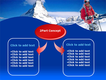 Mountain Skiing PowerPoint Template, Slide 4, 00234, Careers/Industry — PoweredTemplate.com