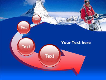Mountain Skiing PowerPoint Template Slide 6