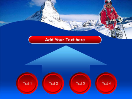 Mountain Skiing PowerPoint Template Slide 8