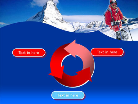 Mountain Skiing PowerPoint Template Slide 9