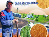 Agriculture: Farmer PowerPoint Template #00236