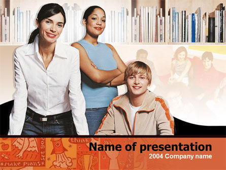 Education & Training: Team Learning Free PowerPoint Template #00239
