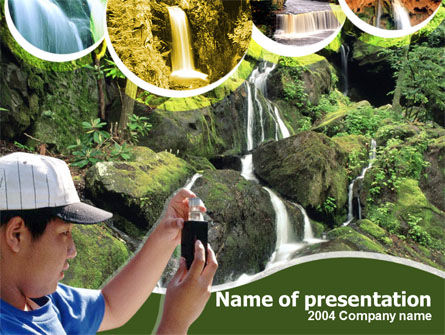 Rain Forest Studying Free PowerPoint Template, 00240, Abstract/Textures — PoweredTemplate.com