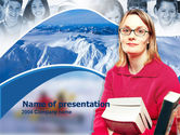Free PowerPoint Backgrounds: Teacher of Geography Free PowerPoint Template #00241