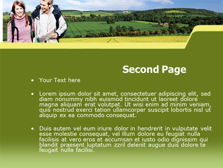 Backpacking PowerPoint Template, Slide 2, 00242, Education & Training — PoweredTemplate.com
