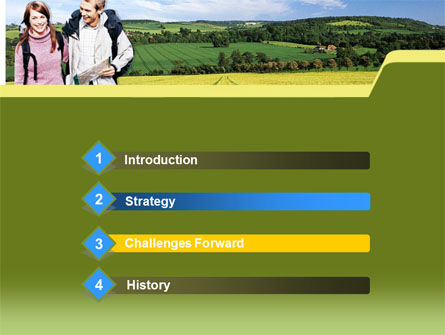 Backpacking PowerPoint Template, Slide 3, 00242, Education & Training — PoweredTemplate.com
