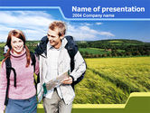 Education & Training: Backpacking PowerPoint Template #00242