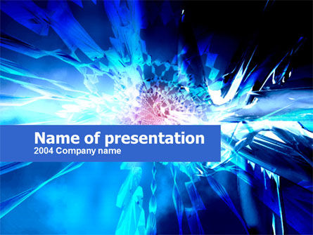 Abstract/Textures: Midnight Blue Abstract PowerPoint Template #00244