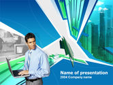 Business Concepts: Business and Computers PowerPoint Template #00245