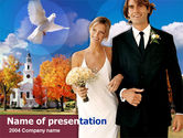 Holiday/Special Occasion: Marriage Ceremony PowerPoint Template #00246