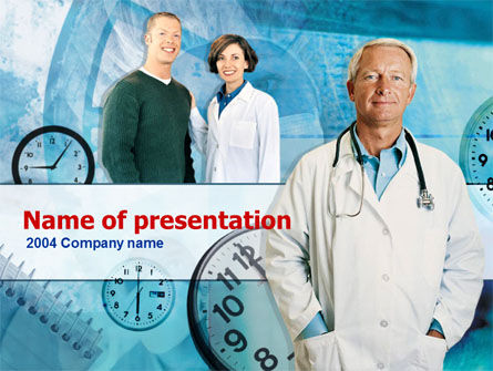 Medical Practitioner PowerPoint Template, 00248, Careers/Industry — PoweredTemplate.com