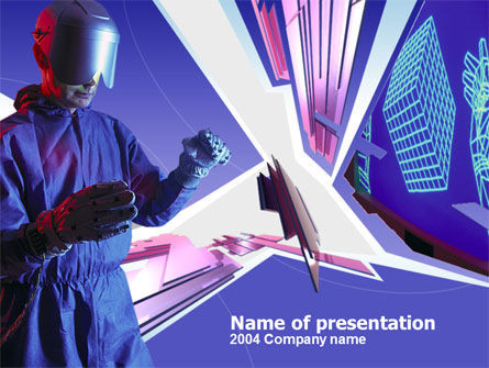 Free PowerPoint Backgrounds: Virtual Reality Free PowerPoint Template #00250