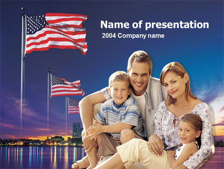 American Family PowerPoint Template, 00253, America — PoweredTemplate.com