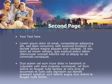 American Family PowerPoint Template, Slide 2, 00253, America — PoweredTemplate.com