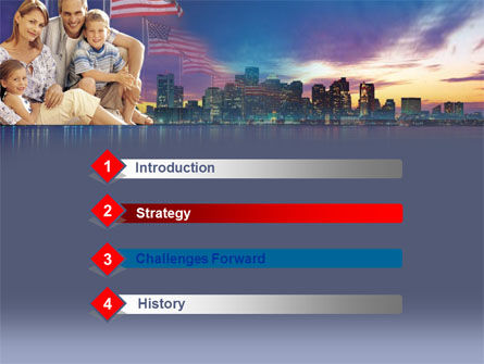 American Family PowerPoint Template, Slide 3, 00253, America — PoweredTemplate.com