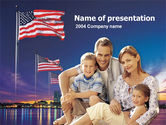 America: American Family PowerPoint Template #00253