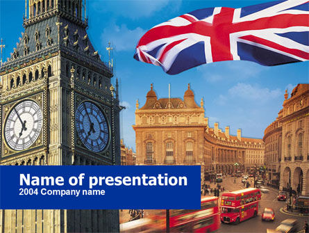 Flags/International: London PowerPoint Vorlage #00255
