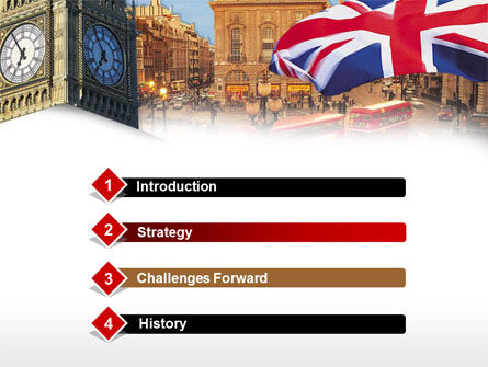 London PowerPoint Template, Slide 3, 00255, Flags/International — PoweredTemplate.com