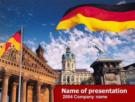 Flags/International: Plantilla de PowerPoint - berlina #00256