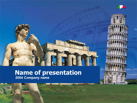 Flags/International: Italy PowerPoint Template #00257