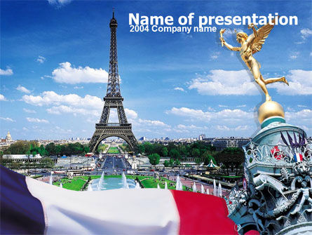France PowerPoint Template, 00258, Flags/International — PoweredTemplate.com
