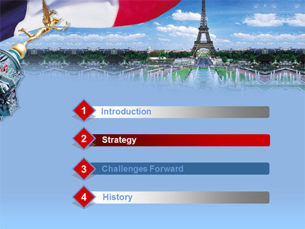 France PowerPoint Template, Slide 3, 00258, Flags/International — PoweredTemplate.com